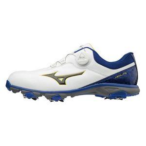 51GM181022 250 ミズノ メンズ・ゴルフシューズ(ホワイト×ブルー・25.0cm・足幅:EEE相当) mizuno NEXLITE ネクスライト005ボア