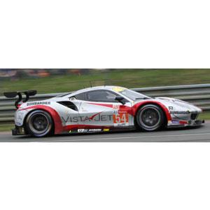 1/43 Ferrari 488 GTE No.54 2nd LMGTE Am Class 24H Le Mans 2018 Spirit of Race【LSLM085】 LOOKSMART