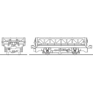 [鉄道模型]ワールド工芸 (HO) 16番 保線用無蓋車 タイプA 塗装済完成品【特別企画品】