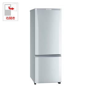 (標準設置料込)MR-P17D-S 三菱 168L 2ドア冷蔵庫(シャイニーシルバー)【右開き】 MITSUBISHI