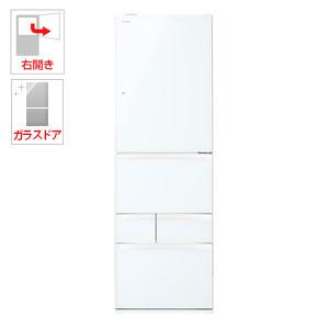 (標準設置料込)GR-P41GXV-EW 東芝 411L 5ドア冷蔵庫(グランホワイト)【右開き】 TOSHIBA VEGETA(ベジータ)