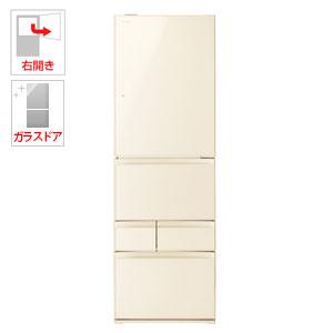 (標準設置料込)GR-P41GXV-ZC 東芝 411L 5ドア冷蔵庫(ラピスアイボリー)【右開き】 TOSHIBA VEGETA(ベジータ)