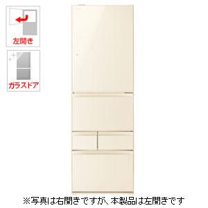 (標準設置料込)GR-P41GXVL-ZC 東芝 411L 5ドア冷蔵庫(ラピスアイボリー)【左開き】 TOSHIBA VEGETA(ベジータ)