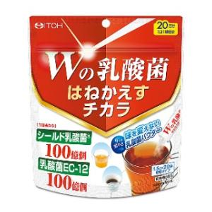 Wの乳酸菌 はねかえすチカラ 1.5g×20袋入 井藤漢方製薬 Wノニユウサンキンハネカエスチカラ20H