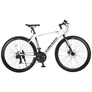 CAC-027-DC(33739) オオトモ 自転車 700c クロスバイク(ホワイト) OTOMO CANOVER(カノーバー) ATHENA(アテナ)