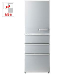 AQR-36G2L-S アクア 355L 4ドア冷蔵庫(ミスティシルバー)【左開き】 AQUA