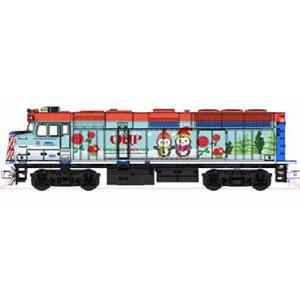 [鉄道模型]ホビーセンターカトー (Nゲージ) 106-2017 クリスマストレイン(2017) F40PH機関車/ギャラリー・バイレベル客車 6両セット