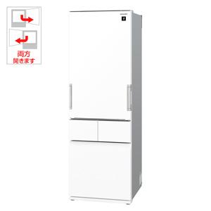 (標準設置料込)SJ-GT42E-W シャープ 415L 4ドア冷蔵庫(ピュアホワイト) SHARP プラズマクラスター冷蔵庫 どっちもドア