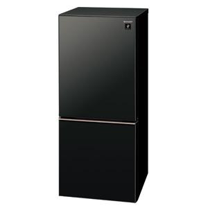 (標準設置料込)SJ-GD14E-B シャープ 137L 2ドア冷蔵庫(ピュアブラック) SHARP つけかえどっちもドア