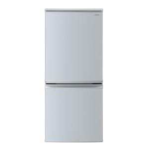 (標準設置料込)SJ-D14E-S シャープ 137L 2ドア冷蔵庫(シルバー系) SHARP つけかえどっちもドア