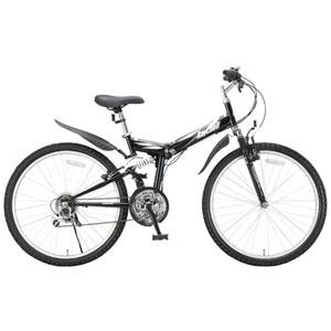 MTB-2618R(10460) オオトモ 折りたたみ自転車 26インチ シマノ18段変速 マウンテンバイク(ブラック) OTOMO Raychell(レイチェル)