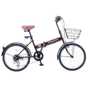 FB-206R(35650) オオトモ 折りたたみ自転車 20インチ シマノ6段変速(ブラウン) OTOMO Raychell(レイチェル)