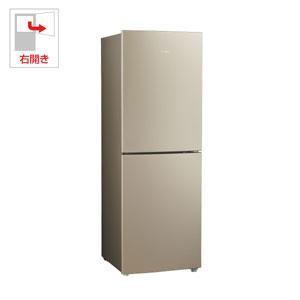 (標準設置料込)JR-NF218B-N ハイアール 218L 2ドア冷蔵庫(ゴールド)【右開き】 Haier