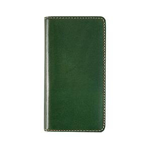 LB10230I8 LAYBLOCK iPhone XS/X用 手帳型 TUSCANY BELLY(グリーン)