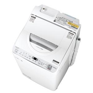 (標準設置料込)ES-TX5C-S シャープ 5.5kg 洗濯乾燥機 シルバー系 SHARP 穴なし槽