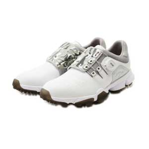 CW 8983501-031 255 キャロウェイ MEN'S ゴルフシューズ(ホワイト/ブラック・25.5cm) Callaway HYPERCHEV BOA 8983501-031
