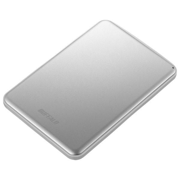 HD-PUS2.0U3-SVD バッファロー USB3.1(Gen1)/3.0対応 ポータブルハードディスク 2TB(シルバー) HD-PUSU3-Dシリーズ