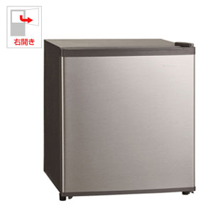 SKM45 三ツ星貿易 47L 1ドア冷蔵庫(直冷式)シルバー【右開き】 SCANCOOL