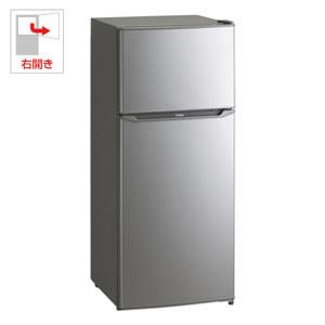 (標準設置料込)JR-N130A-S ハイアール 130L 2ドア冷蔵庫(直冷式)シルバー【右開き】 Haier