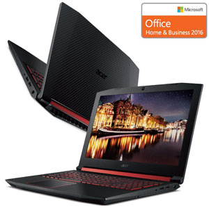 AN515-52-JF76A5/F エイサー 15.6型ゲーミングノートパソコン Acer Nitro 5 (Office Home&Business 2016 付属) [Core i7/メモリ 16GB/SSD 256GB+HDD 1TB/GeForce GTX 1050 Ti/144Hz]