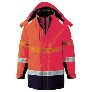 801-82-L ジーベック 高視認防水防寒コート L(オレンジ)