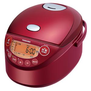 RC-6XM-R 東芝 IHジャー炊飯器(3.5合炊き) グランレッド TOSHIBA 備長炭鍛造かまど釜