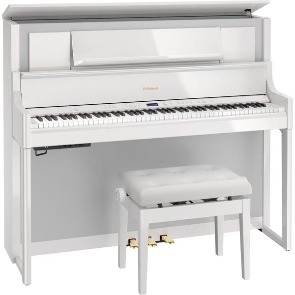 LX708-PWS ローランド 電子ピアノ(白塗鏡面塗装仕上げ)【高低自在椅子&楽譜集付き】 Roland LX700 Series