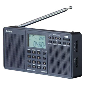 AR-MDS25 アイワ ワイドFM ステレオラジオ(パールブラック) aiwa WORLD BAND RADIO