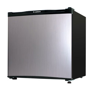 RM-46L01SL エスキュービズム 46L 1ドア冷蔵庫(直冷式)シルバーヘアライン S-cubism
