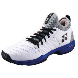 YO-SHTF3MGC-725-24.5 ヨネックス テニス メンズ シューズ(ホワイト×オーシャンブルー・24.5cm) YONEX パワークッション フュージョンレブ3 メン GC