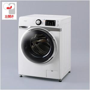 _ HD71-W/S アイリスオーヤマ 7.5kg ドラム式洗濯機【左開き】ホワイト/シルバー IRIS (乾燥機能無し)