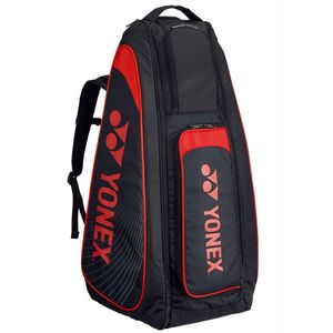 YO-BAG1819-187 ヨネックス スタンドバッグ(リュック付)(ブラック×レッド・テニス2本用) YONEX TOURNAMENT&ACTIVE series
