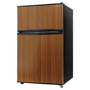 (標準設置料込)RM-90L02DW エスキュービズム 90L 2ドア冷蔵庫(直冷式)ダークウッド S-cubism