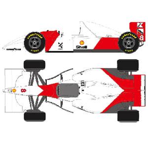 1/43 McLaren Ford MP4/8 Monaco GP 1993 No.8 アイルトン・セナ【FE034A】 メイクアップ