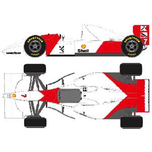 1/43 McLaren Ford MP4/8 Monaco GP 1993 No.7 マイケル・アンドレッティ【FE034B】 メイクアップ