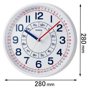 W-736 WH-Z ノア精密 掛け時計 NOA マーケット W736WHZ MAG 新生活 返品種別A よ~める 知育時計