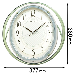 AM-262-M セイコークロック 電波掛け時計(薄緑光沢仕上げ) [AM262M]【返品種別A】