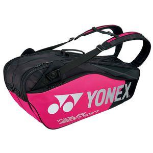 YO-BAG1802R-181 ヨネックス ラケットバッグ6(リュック付)(ブラック×ピンク・テニス6本用) YONEX PRO series