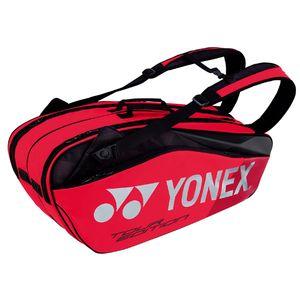 YO-BAG1802R-596 ヨネックス ラケットバッグ6(リュック付)(フレイムレッド・テニス6本用) YONEX PRO series
