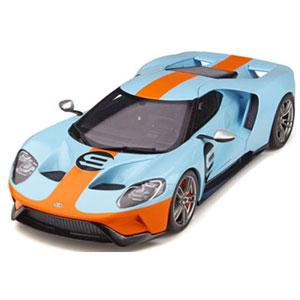 1/18 フォード GT(ブルー/オレンジ)世界限定 999個【GTS783】 GTスピリット