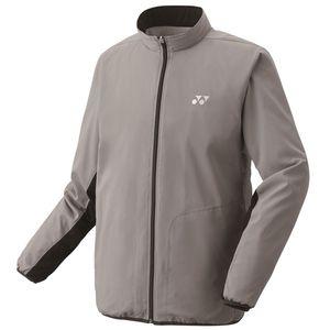 YO-70059-010-M ヨネックス 裏地付ウィンドウォーマーシャツ(グレー・サイズ:M) YONEX テニス・バドミントン ウェア(メンズ/ユニ)
