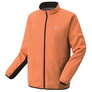 YO-70059-160-M ヨネックス 裏地付ウィンドウォーマーシャツ(ブライトオレンジ・サイズ:M) YONEX テニス・バドミントン ウェア(メンズ/ユニ)