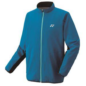 YO-70059-506-M ヨネックス 裏地付ウィンドウォーマーシャツ(インフィニットブルー・サイズ:M) YONEX テニス・バドミントン ウェア(メンズ/ユニ)