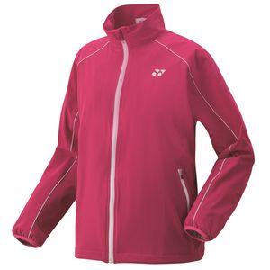 YO-78052-654-XO ヨネックス 裏地付ウィンドウォーマーシャツ レディース(ベリーピンク・サイズ:XO) YONEX テニス・バドミントン ウェア(レディース)