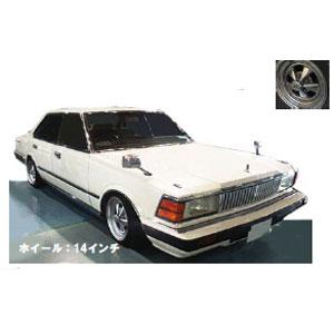 1/43 Nissan Cedric (P430) 4Door Hardtop 280E Brougham White ※Spork-Wheel【IG1451】 ignitionモデル