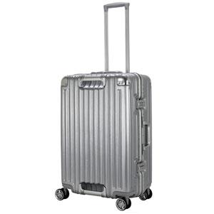 TRI1102-60 アルミSV シフレ スーツケース ハードフレーム 58L(アルミシルバー) TRIDENT(トライデント)