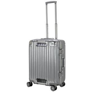 TRI1102-52 アルミSV シフレ スーツケース ハードフレーム 45L(アルミシルバー) TRIDENT(トライデント)