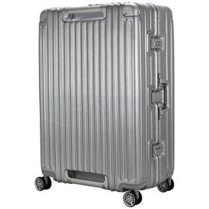TRI1102-75 アルミSV シフレ スーツケース ハードフレーム 104L(アルミシルバー) TRIDENT(トライデント)