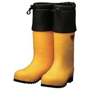 AC091-25.0 シバタ工業 防寒安全長靴 セーフティベアー白熊(イエロー) 25.0cm