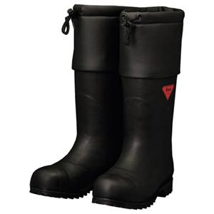 AC111-24.0 シバタ工業 防寒安全長靴 セーフティベアー白熊(ブラック) 24.0cm